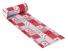 10 Meter Tischläufer Tischband Patchwork 200 mm breit rot HobbyFun EUR 0,99 / m