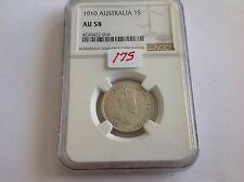 1910 Australia Shilling NGC AU 58
