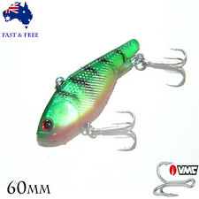 Kokoda S Soft Vibe 60mm Plastic Fishing Lures Vibe Blade Grubs Barra Minnow VMC