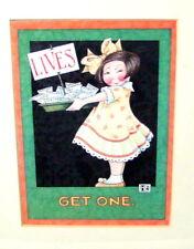 Mary Engelbreit Lives Get One Framed Print Me Art Wood Frame Girl with Plate