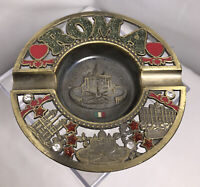 Vintage Brass ashtray Rome Roma cigarette