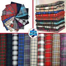 "60"" (150cms) Scottish Fashion Tartan Plaid Check Polyviscose Woven Fabric D#214"