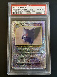 🔥POP 8🔥PSA 10 - Gengar Reverse Holo Legendary Collection #11 Pokemon Card 2002