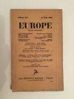 Europa Revista Mensual Las Ediciones Rieder N º 114 15 Junio 1932