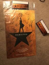 Hamilton Broadway Musical Autographed Cast Poster Richard Rodgers March 2018 NYC