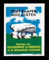 REKLAMEMARKE POSTER STAMP DENMARK DANMARK STØT KAMPEN MOD GIGTEN 1935 MNG
