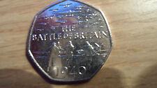 2015 Battle of Britain 75TH ANNIVERSAIRE BRILLANT 50p coin