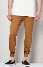 Men's PacSun Skinny Ankle 2.0 Joggers Pants Khaki Brown Sz Medium Trendy Fashion