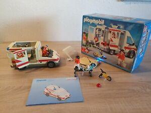 PLAYMOBIL 4221 Rettungstransporter, Krankenwagen, fast komplett, mit OVP und BA