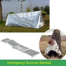 Tent Lifesaving Camping Hiking Rescue Space Blanket Cover Thermal Emergency