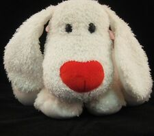 White Dog Plush Commonwealth Puppy Doggy  24P8 Stuffed Animal Toy Valentine Hear