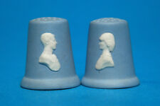"Wedgwood ""Prince Charles & Diana Blue Jasper set of 2 Thimbles B/101"