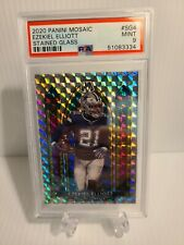 2020 Panini Mosaic Stained Glass #Sg4 Ezekiel Elliott Psa 9