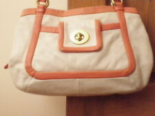 DESIGNER COACH LEATHER HANDBAG ORRP $650 MCWA LARGE CARRYALL BAG CORAL PINK GOLD