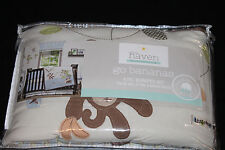 Little Haven Go Bananas 4 Piece Crib Bumper Monkeys organic cotton new