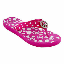 NEW Lindsay Phillips lulu pink peace switchflop flip flop size 9 shoes SALE