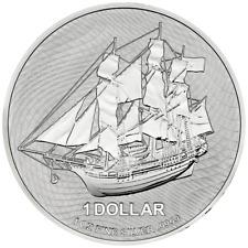 Cook Inseln - 1 Dollar 2020 - Segelschiff Bounty - Anlagemünze - 1 Oz Silber ST