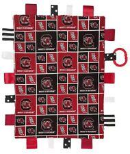 South Carolina Gamecocks Baby Sensory Tag Lovey Minky Blanket