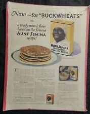 "1923 AUNT JEMIMA Buckwheat Pancake Flour 10x14"" Print Ad FN 6.0"