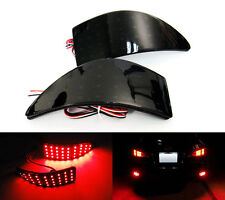 2x For 06-13 Lexus IS250 Black Smoked Bumper Reflector LED Tail Brake Stop Light