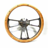 Oak Steering Wheel 1960 - 1969 Chevy Blazer Suburban Chevy Horn + Adapter Kit