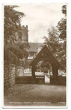 Tettenhall Church, Wolverhampton RP PPC 1949 PMK to Acton Reynold, Shrewsbury