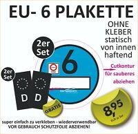 Set Nummernschild Kennzeichen EU Feld Auto Aufkleber schwarz UV+Kratzlaminat #89