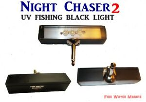 NIGHT CHASER UV LED FISHING BLACK  LIGHT w/ HARD MONO PLUG + FULL MAXX MOON GLOW