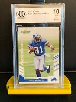 2007 Score Calvin Johnson Rookie. Bccg 10. Low Pop! 4 Charity