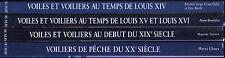 4 tomes voiliers des cotes de France chez Du may Marine Louis XIV peche + ENVOI