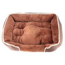 Dog Bed Soft Washable Fleece Fur Removable Cushion Warm Luxury Pet Basket