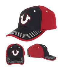 True Religion Men's Two Toned Horseshoe Logo Baseball Cap Sports Strapback Hat