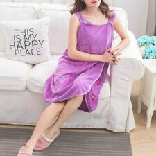 Heart Shape Woman Towel Cover Up Wearable Magic Microfiber Button Soft Clothes