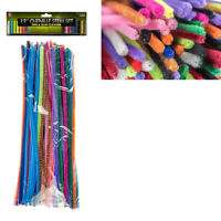 150 Pc Pipe Cleaner Chenille Set Colors Long Stems Gunsmith Craft New 10""