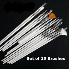 Model/Hobbies Synthetic Paint Brush Set of 15 for Tamiya, Warhammer Army Painter