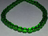 Wholesale 4MM Green Transparent Glass Round Spacer Loose Beads About 80PCS.