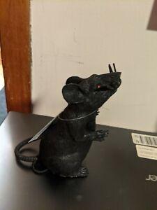 HALLOWEEN PROP BLACK SQUEAKY RAT