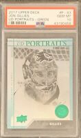 2017 2018 UPPER DECK Jon Gillies GREEN FOIL PORTRAITS RC ROOKIE GOLD PSA 10