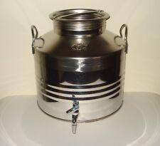 Damigiana + Contenitore per olio o vino con rubinetto litri 30 in acciaio 18/10