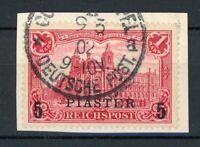Deutsche APA Türkei MiNr. 20 I Briefstück (O488