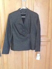 Jones New York Collection petite stretch black/silver blazer jacket new