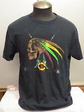Chicago Blackhawks Shirt - Skull Graphic with Hockey Sticks - Men's Large