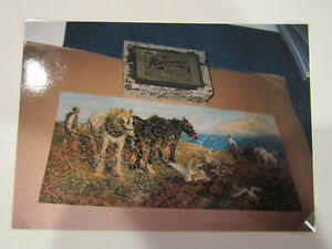 "Huvanco  Wood Jigsaw Puzzle ""Ploughing by the sea""  500 pieces complete with box"