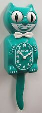 LIMITED EDITION KIT CAT CLOCK GREEN BEAUTY USA MADE (FREE BATTERIES).