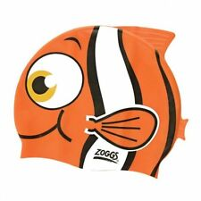 Zoggs Junior Silicone Character Swim Cap - Fish Orange