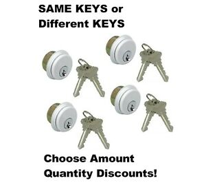 Adams Rite Type Storefront Mortise Cylinders, SC1 Keyway, Commercial Lock, Alum