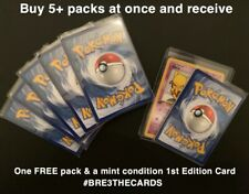 Pokemon Cards Bundle *Lucky Stars Custom Booster Pack* Inc WOTC 1st Edition Holo