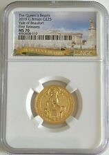 2019 G.Britain 1/4oz Gold Queen's Beast Yale Of Beaufort NGC MS 70 FR