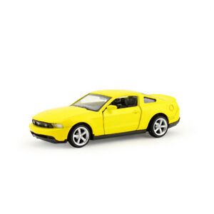 1:43 Ford Mustang GT Sports Car Model Car Diecast Gift Toy Vehicle Yellow Kids