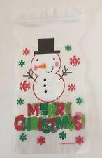 12 X Navidad Muñeco De Nieve bolsas con cremallera Dulces Galletas Chocolate botín de siembra